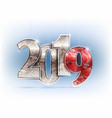 number year shine design vector image vector image