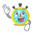 okay isolated stopwatch with in the character vector image