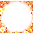 orange floral edges vector image vector image