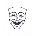 outline theatrical comedy mask