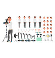 photographer male animated man creation vector image