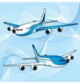 realistic passenger aircraft with turbines vector image