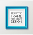 realistic square blue frame template frame on the vector image vector image