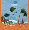 seaside landscape vector image vector image