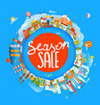 season sale concept the earth and different vector image vector image