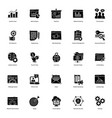 seo solid icons pack vector image vector image