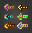 Set of wooden arrows vector image vector image