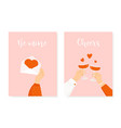 set two happy st valentines day posters vector image vector image