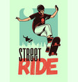 street ride color poster vector image