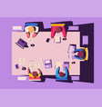 teamwork at smartphone desk coworking concept vector image vector image