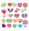 template silhouette of the heart symbol of love vector image vector image