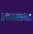 ui elements infographic dashboard template with vector image vector image