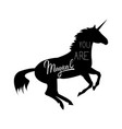 unicorn mythical horse vector image vector image