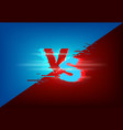 versus background with glitch on screen effect vector image vector image