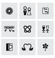 Wedding icon set vector image vector image