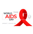 world aids day poster design with red shape vector image vector image
