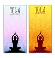 Yoga banner collection vector image