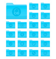 OS X Folders with Multimedia Icons vector image