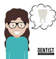 Dentist design vector image