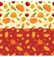 Autumn seamless patterns Fall leaves vector image