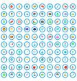 100 laboratory icons set cartoon style vector image vector image
