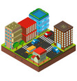 3d design for buildings in the city vector image vector image