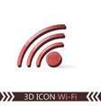3d icon wi-fi vector image vector image