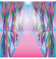 Abstract bright background with colorful ribbons