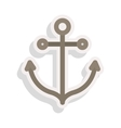 anchor nautical icon vector image vector image