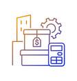 assets management gradient linear icon