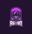 astronaut esport gaming mascot logo template for vector image vector image
