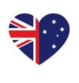 australia aussie flag in heart shape vector image