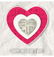 background with red valentine heart and wishes tex vector image vector image