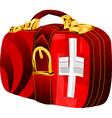 bag with switzerland vector image vector image