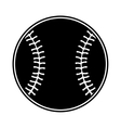 baseball ball isolated icon vector image