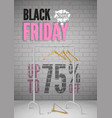 black friday clothes sale realistic poster vector image vector image