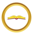 Book is open in the middle icon vector image