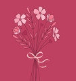 bouquet meadow flowers vector image vector image