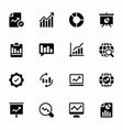 business analytics glyph icons vector image vector image