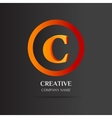 C Letter logo abstract design vector image vector image