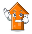 call me arrow mascot cartoon style vector image vector image