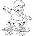 Cartoon boy riding a skate board vector image vector image