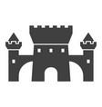 castle black icon medieval building vector image vector image