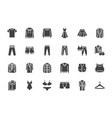 clothes fashion silhouette icons vector image