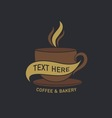 coffee cup label concept menu vector image