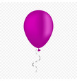 color balloon on a transparent background vector image vector image