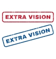 Extra Vision Rubber Stamps vector image vector image