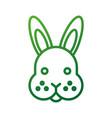 farm animal rabbit face cute furry vector image