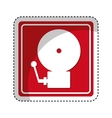 fire alarm isolated icon vector image vector image