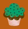 flat shading style icon muffin vector image vector image